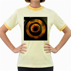 Fractal pattern Women s Fitted Ringer T-Shirts