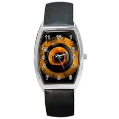 Fractal Pattern Barrel Style Metal Watch