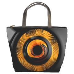 Fractal pattern Bucket Bags
