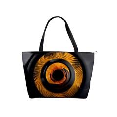 Fractal Pattern Shoulder Handbags