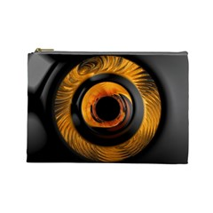 Fractal pattern Cosmetic Bag (Large)
