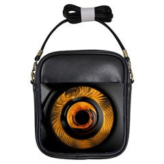 Fractal Pattern Girls Sling Bags