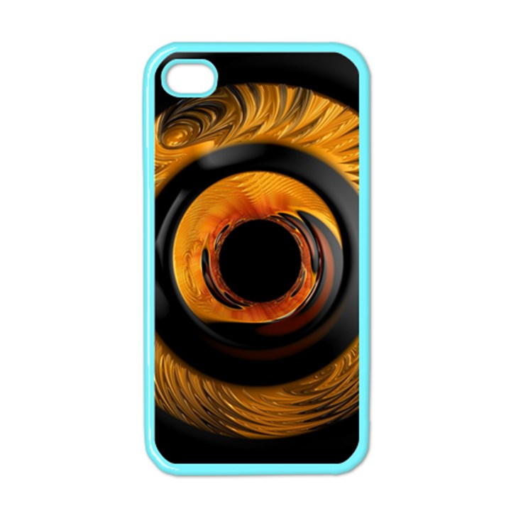Fractal pattern Apple iPhone 4 Case (Color)