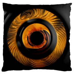 Fractal Pattern Large Flano Cushion Case (two Sides)
