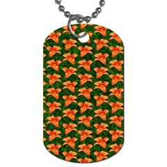 Background Wallpaper Flowers Green Dog Tag (one Side)