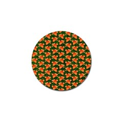 Background Wallpaper Flowers Green Golf Ball Marker (10 pack)