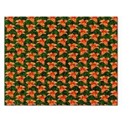 Background Wallpaper Flowers Green Rectangular Jigsaw Puzzl