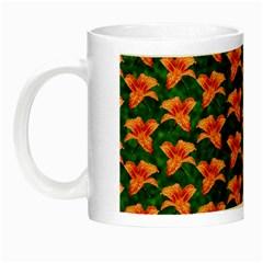 Background Wallpaper Flowers Green Night Luminous Mugs