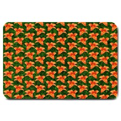 Background Wallpaper Flowers Green Large Doormat