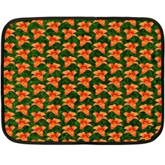 Background Wallpaper Flowers Green Double Sided Fleece Blanket (Mini)