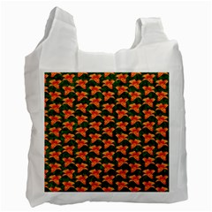 Background Wallpaper Flowers Green Recycle Bag (One Side)