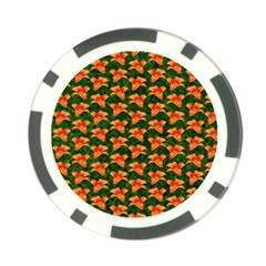 Background Wallpaper Flowers Green Poker Chip Card Guard (10 Pack)