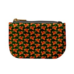 Background Wallpaper Flowers Green Mini Coin Purses