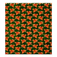 Background Wallpaper Flowers Green Shower Curtain 66  X 72  (large)