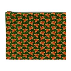 Background Wallpaper Flowers Green Cosmetic Bag (XL)