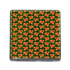 Background Wallpaper Flowers Green Memory Card Reader (Square)