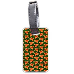 Background Wallpaper Flowers Green Luggage Tags (two Sides)