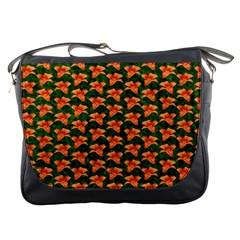 Background Wallpaper Flowers Green Messenger Bags