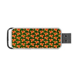 Background Wallpaper Flowers Green Portable USB Flash (One Side)