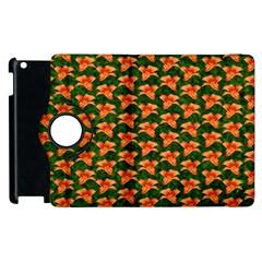 Background Wallpaper Flowers Green Apple Ipad 2 Flip 360 Case