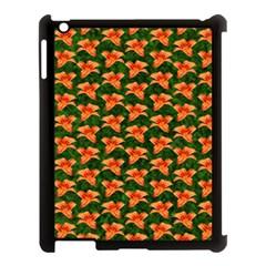 Background Wallpaper Flowers Green Apple iPad 3/4 Case (Black)