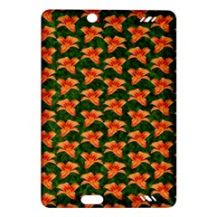 Background Wallpaper Flowers Green Amazon Kindle Fire Hd (2013) Hardshell Case
