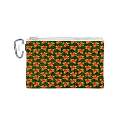 Background Wallpaper Flowers Green Canvas Cosmetic Bag (s)