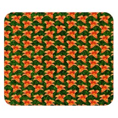 Background Wallpaper Flowers Green Double Sided Flano Blanket (small)