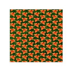 Background Wallpaper Flowers Green Small Satin Scarf (Square)