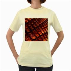 Fractal Mathematics Frax Hd Women s Yellow T-Shirt