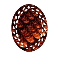 Fractal Mathematics Frax Hd Oval Filigree Ornament (Two Sides)