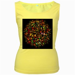 Network Integration Intertwined Women s Yellow Tank Top