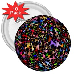 Network Integration Intertwined 3  Buttons (10 Pack)