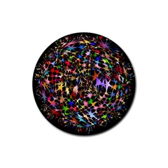 Network Integration Intertwined Rubber Round Coaster (4 Pack)