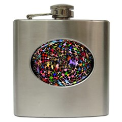 Network Integration Intertwined Hip Flask (6 oz)