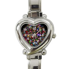 Network Integration Intertwined Heart Italian Charm Watch