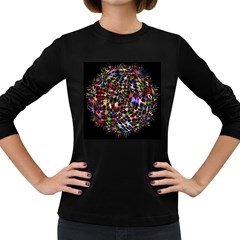 Network Integration Intertwined Women s Long Sleeve Dark T-Shirts