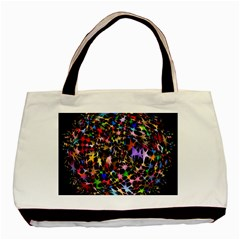 Network Integration Intertwined Basic Tote Bag