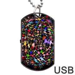Network Integration Intertwined Dog Tag USB Flash (One Side)