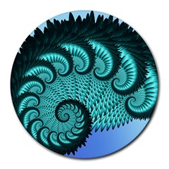 Fractals Texture Abstract Round Mousepads