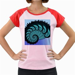 Fractals Texture Abstract Women s Cap Sleeve T-Shirt