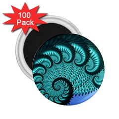 Fractals Texture Abstract 2 25  Magnets (100 Pack)