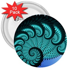 Fractals Texture Abstract 3  Buttons (10 pack)