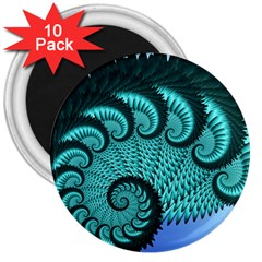 Fractals Texture Abstract 3  Magnets (10 Pack)
