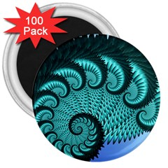 Fractals Texture Abstract 3  Magnets (100 pack)