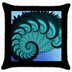 Fractals Texture Abstract Throw Pillow Case (Black)