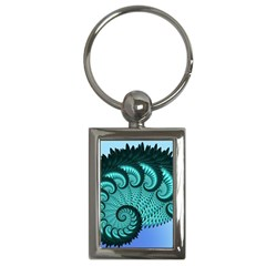 Fractals Texture Abstract Key Chains (rectangle)
