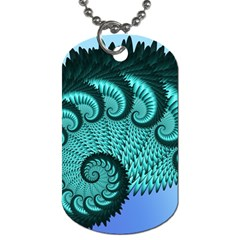 Fractals Texture Abstract Dog Tag (One Side)