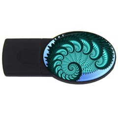 Fractals Texture Abstract Usb Flash Drive Oval (2 Gb)