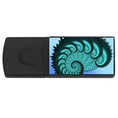 Fractals Texture Abstract USB Flash Drive Rectangular (1 GB)
